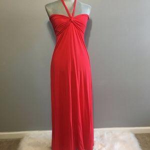 Victoria's Secret Red Halter Maxi Dress